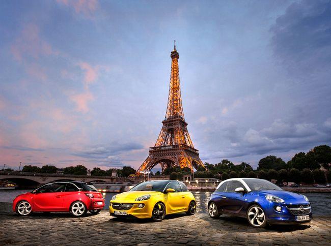 Opel Adam, citycar a Parigi