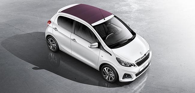Nuova Peugeot 108 2014 a 5 porte decapottabile
