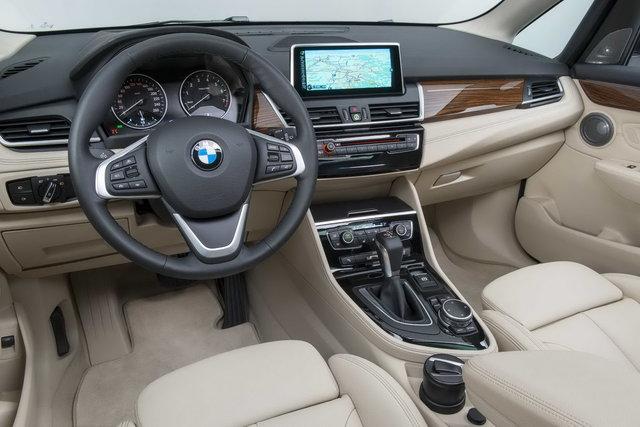 Interni della nuova BMW Serie 2 Active Tourer
