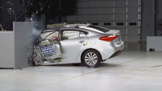 Crash test auto
