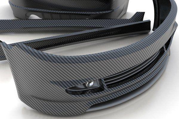 Paraurti per auto in fibra di carbonio