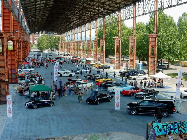 Raduno auto americane al Salone dell'Auto di Torino
