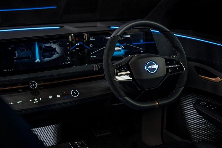 Plancia del nuovo crossover elettrico Nissan Ariya Concept