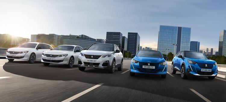 Gamma auto elettrificate Peugeot