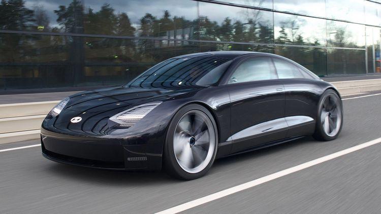 La Hyundai Prophecy EV Concept che prefigura un nuovo modello di berlina elettrica di lusso