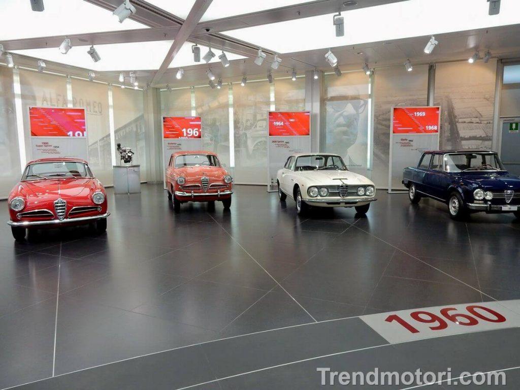 Modelli Alfa Romeo degli anni '60 in mostra al museo di Arese
