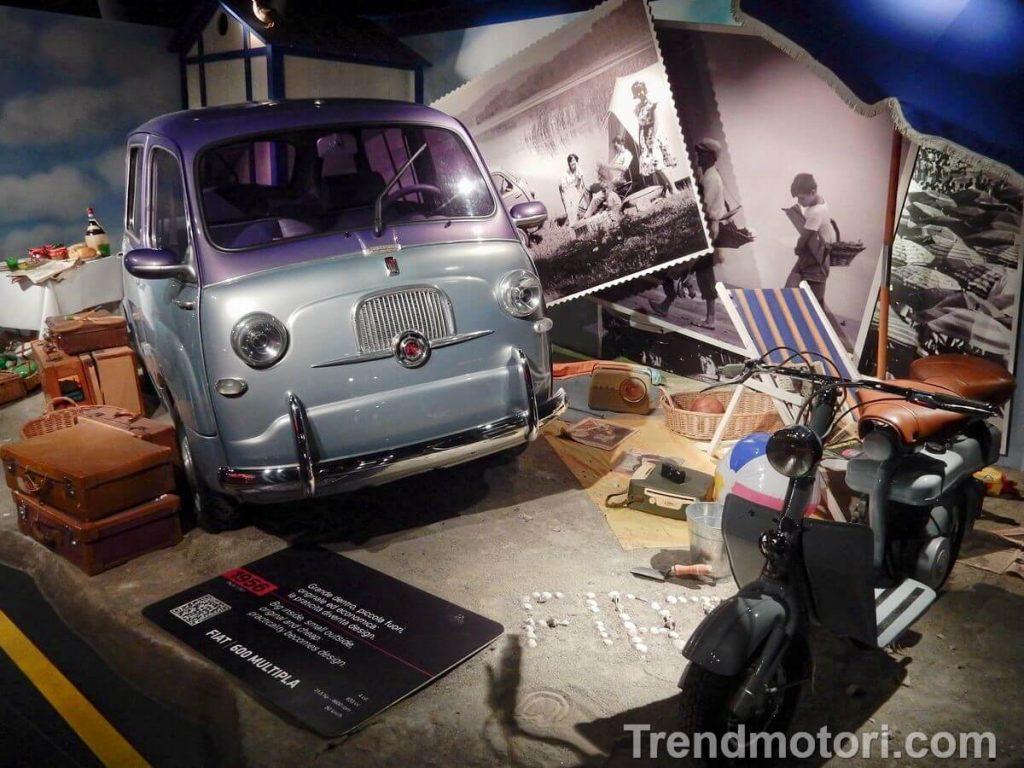 Fiat 600 Multipla e lambretta esposte al MAUTO di Torino